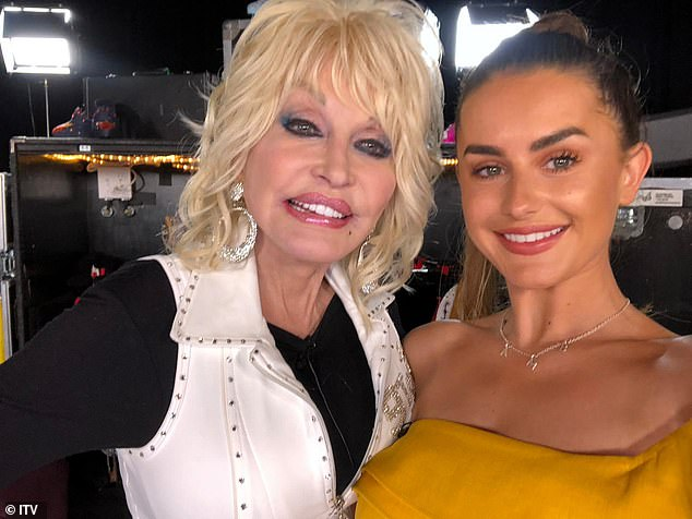 Amazing: Amber recently enjoyeda life-changing meeting with country icon Dolly Parton, who wrote musical 9 To 5 based on the hit 1980 film of the same name