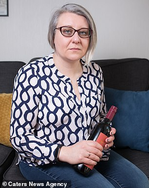 With painkillers having no effect, MrsHawksworth claims she had 'no choice' but to drink to ease her discomfort and stress
