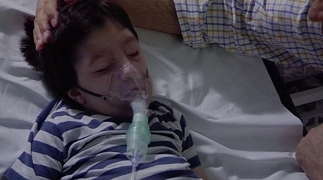 The family were filmed comforting Jeremy as doctors rushed to find out what may be causing his breathing difficulties. The little boy was born with birth defect microcephaly, which causes a small head, and epilepsy, and is unable to see, speak or lift his head on his own