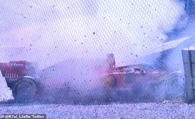 It looked a heavy impact but Sebastian Vettel managed to walk away from his crash