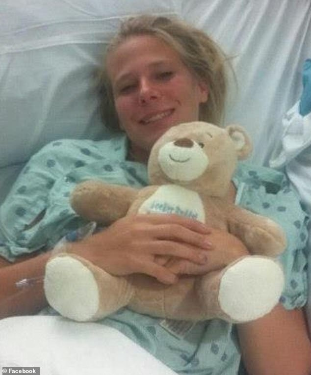 Scary: Molly was taken to the hospital  by her roommates, where doctors discovered that she was suffering a heart attack
