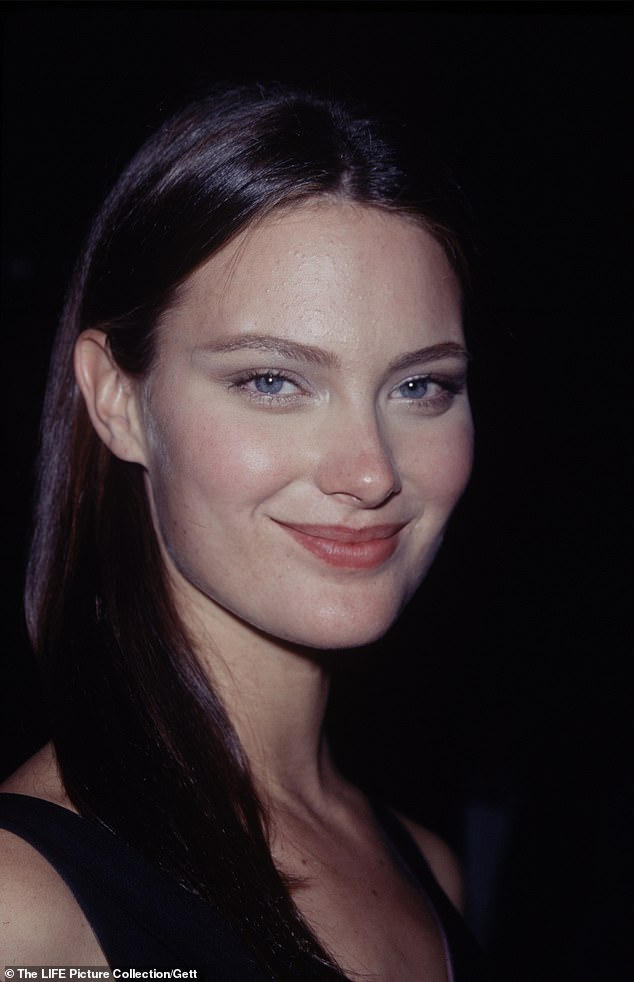 Shalom Harlow is seen, aged 24, in her earlier modelling days, but says that she now works more than ever