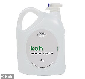 This four litre bottle of Koh Universal cleaner (pictured) is priced at $29