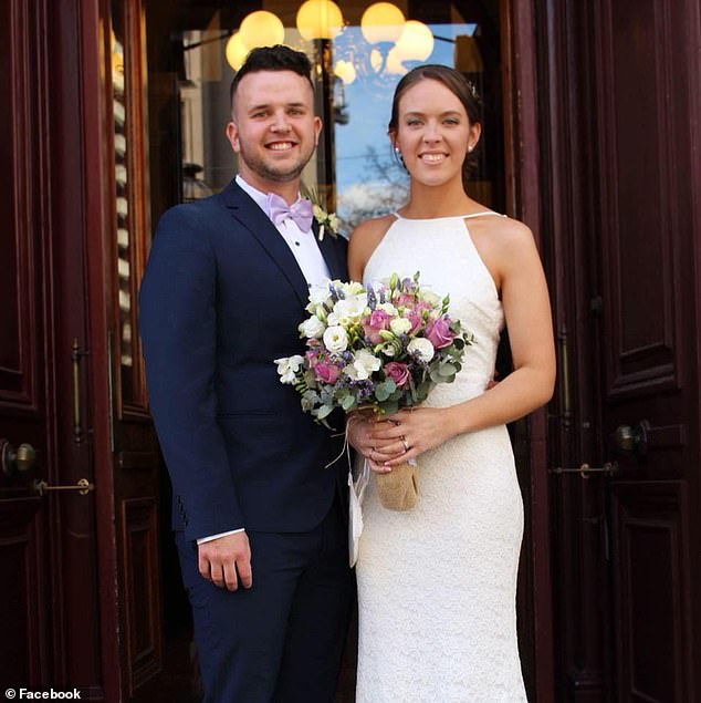 Couple Matt and Marissa - who were enjoying their 'belated honeymoon' in LA after tying the knot in September last year - appeared on The Late Late Show with James Corden last week