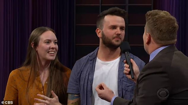 Australian newlywed couple Matt and Marissa left comedian James Corden stunned after they revealed their very raunchy engagement story on his show