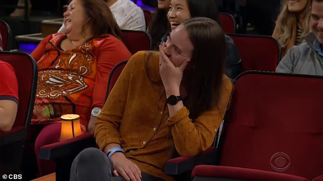 Marissa was in hysterics as her new husband tried to explain how their proposal played out