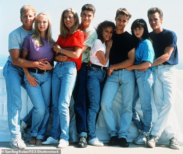 They're back! Spelling is among the six original stars of Beverly Hills 90210 to sign-on for a reunion series set to air this summer;  The cast includes(left to right) Ian Zering, Jennie Garth, Spelling, Brian Austin Green,Gabrielle Carteris and Jason Priestly