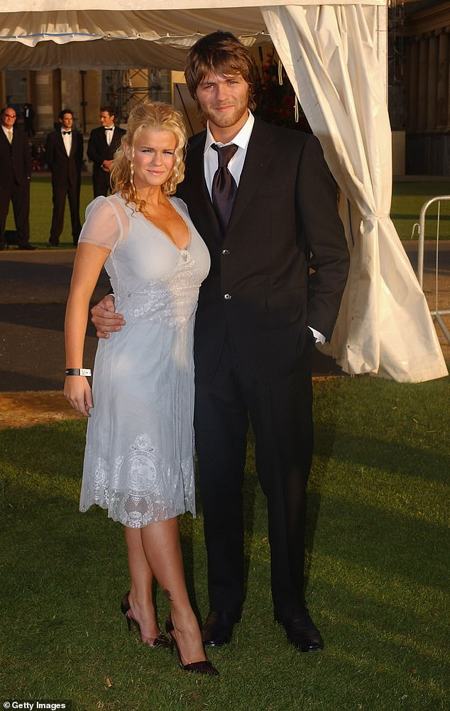 Tearful: Painful memories of the Westlife singer leaving her brought poor Kerry to tears (pictured with Brian in 2004)