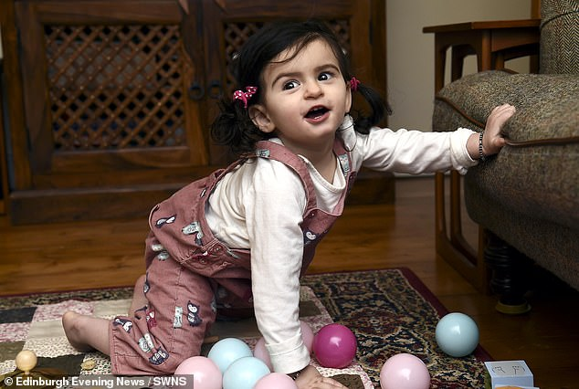 It took four months for doctors to figure out what was wrong with Anya after her first stroke-like episode at ten weeks old which was 'terrifying' for her parents