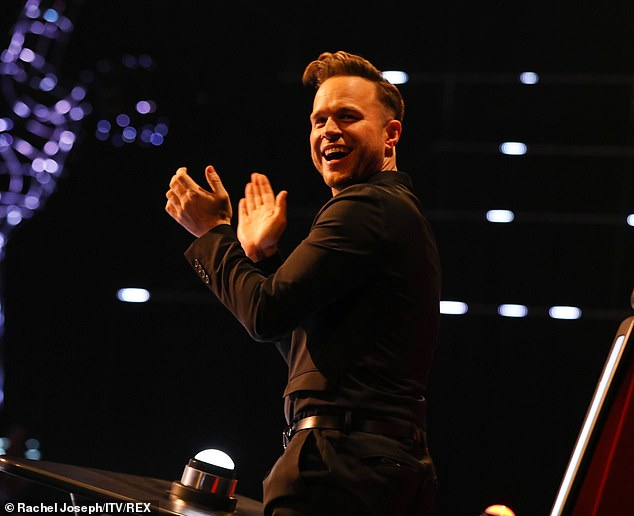 Beside himself:Olly currently acts as a judge on The Voice UK, and of his experience he gushed that it was 'brilliant', and said: 'It doesn't feel like work we go there'