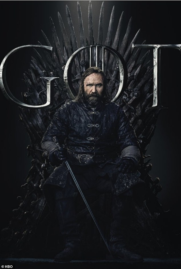 Skilled: The Hound held his sword in a diagonally across his body when he sat on the throne