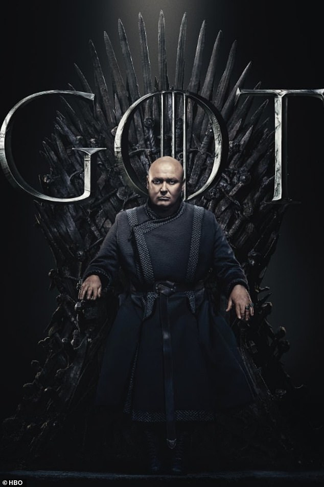 The Spider: Lord Varys, who is arguably the biggest manipulator in the Game of Thrones,  could be sat in the chair despite his claims he has no interest in the throne