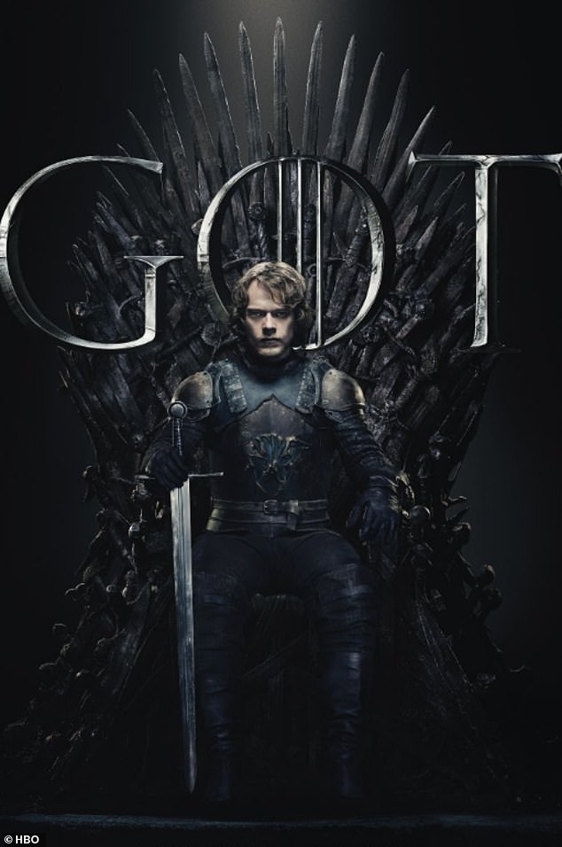 Fierce: Theon Greyjoy donned his usual armor and held the sword with one firm grip