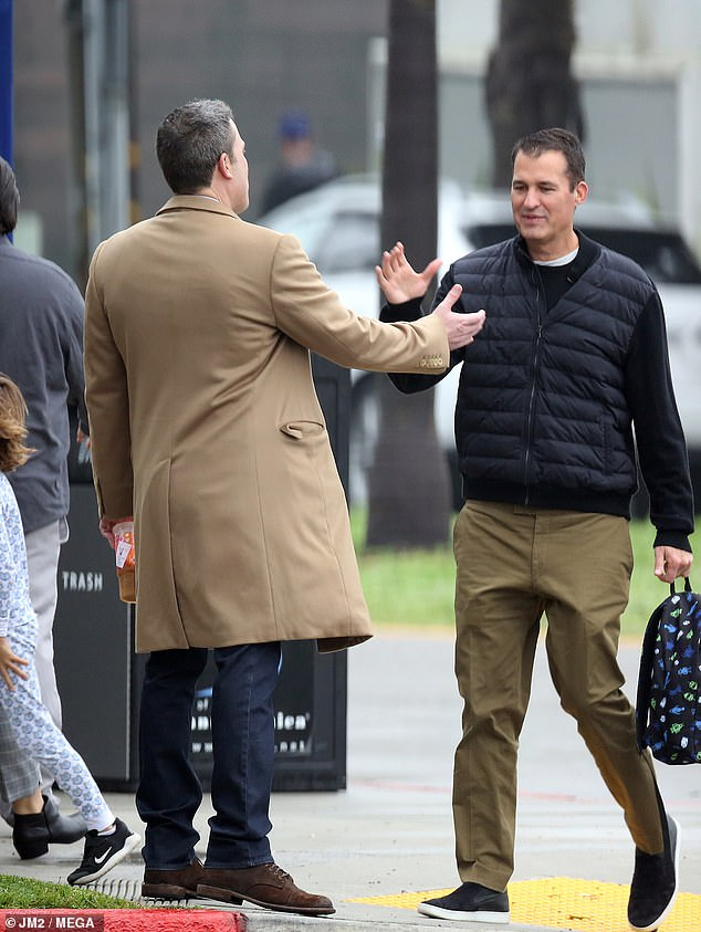 Hey buddy! While there, Ben bumped into film producer Scott Stuber