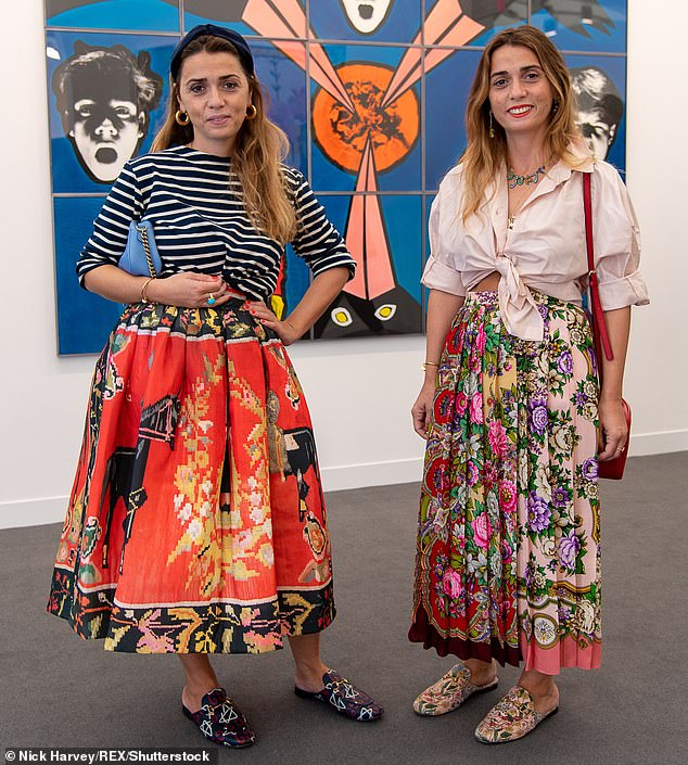 Natasha Surguladze (shown right) is one half of identical twin design duo Tata Naka, along with sibling Tamara (pictured left)