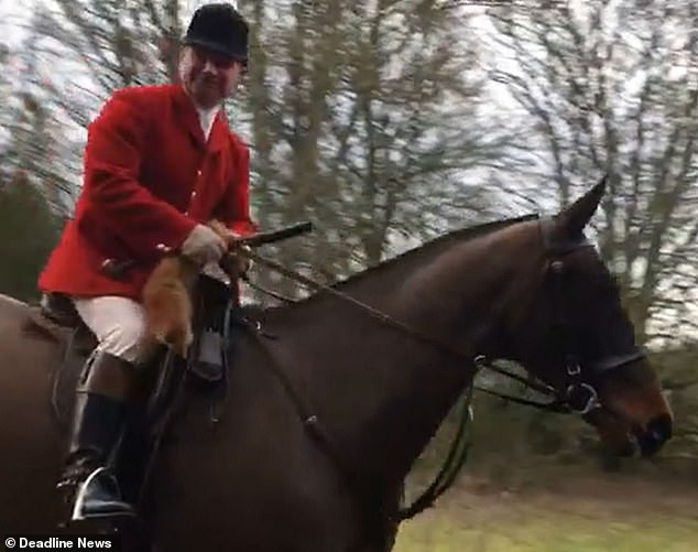 The video is believed to have been taken inKinnaird Castle, Scotland and was posted on Facebook by Fife and Central Scotland Hunt Sabs