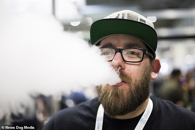Visitors to the convention in Birmingham were able to sample CBD vaping oil for e-cigarettes