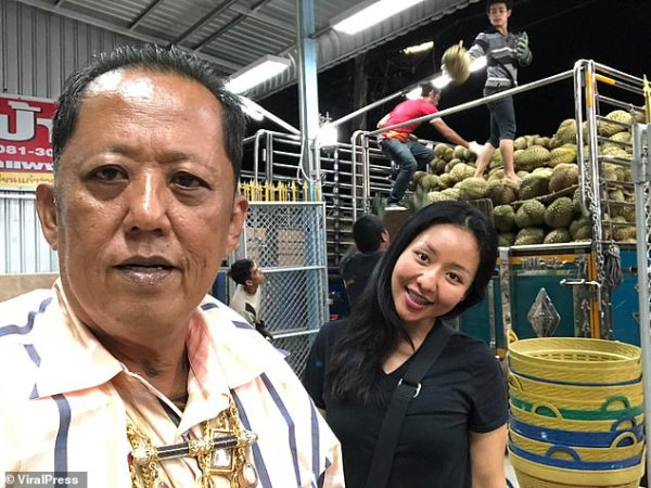 Bizarre: Arnon Rodthong, 58, promises ten million Thai baht (£240,000) and his prosperous durian fruit farm in southern Thailand to the man who marries his daughter