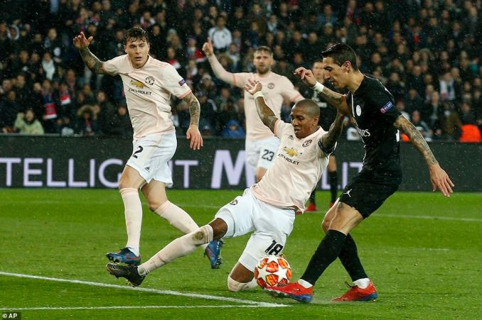 Angel Di Maria pulled off a sublime chip to put the ball in the back of the net against his old club, but was in an offside position