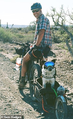 Organization: John (pictured in Mexico with Mira) advises anyone thinking about embarking on a trip with their dog to research about the chosen destination before travelling