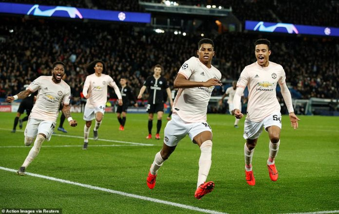 United players sprinted to the corner in the wake of their goalscoring team-mate after the ball rippled the back of the net