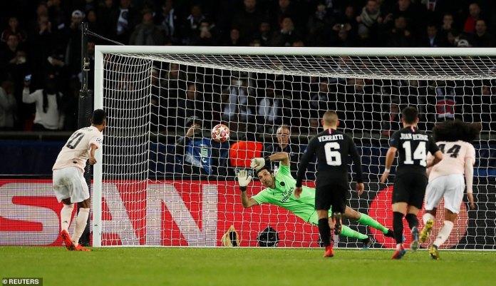 Rashford smashed the ball into the top left corner, beating Gianluigi Buffon despite the legendary 'keeper going the right way