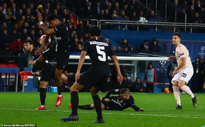 The controversial call was made by ref Damir Skomina after consulting VAR and deciding Presnel Kimpembe handled the ball