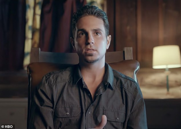 Upset: Wade Robson, pictured being interviewed on the documentary, claims he was abused by Jackson from the age of seven
