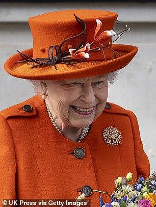 Queen Elizabeth II leaves after announcing the summer exhibition, Top Secret