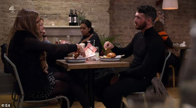 Happy:Things appeared to be going quite well for Georgia on the date, as she admitted that she felt Nath was 'the right person for me to open up to'