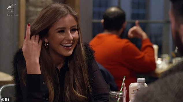 Taking on the advice:Promising to be more 'vulnerable' with her dates, and to listen more, the Love Island star set off on a date with 22-year-old electrician Nath