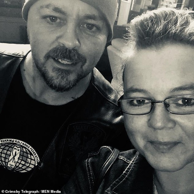 Mourning: Jayne Peacock (left) and her devastated husband, Craig, who paid tribute