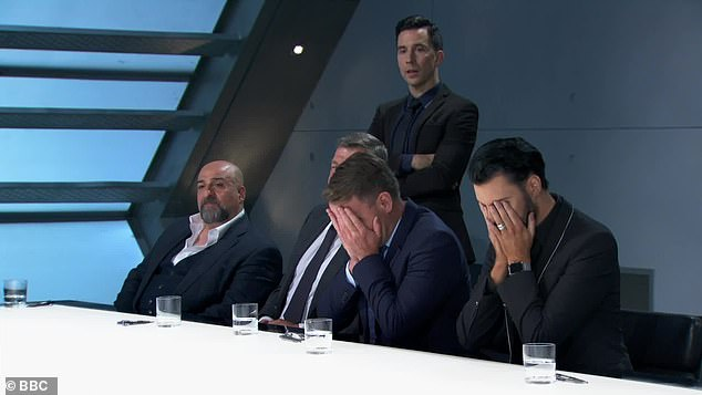 Oops! The mood in the boardroom soon worsened as Lord Sugar began investigating the losing team to determine which of the boys was responsible for the failure of the task