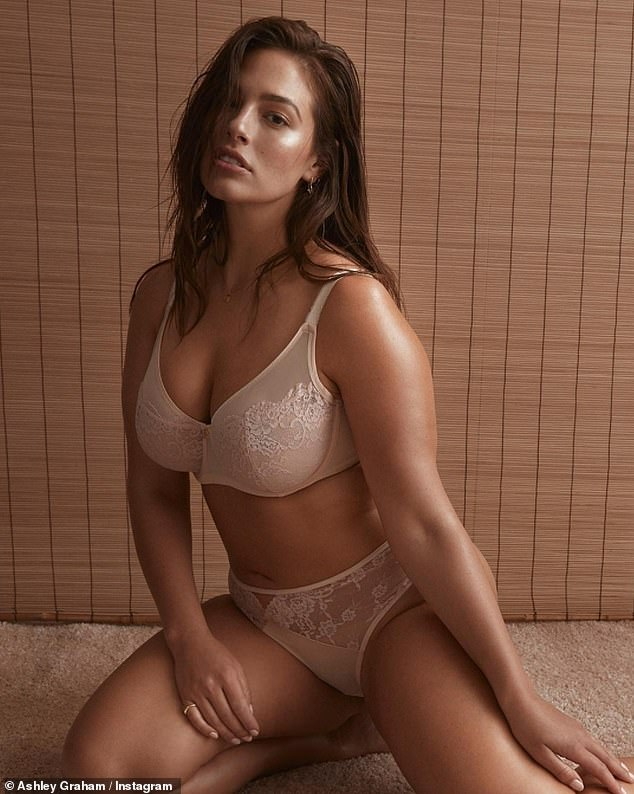 Her own best advert! Ashley Graham looked irresistible while modeling pieces from her own intimates line Ashley Graham Lingerie on Instagram Friday