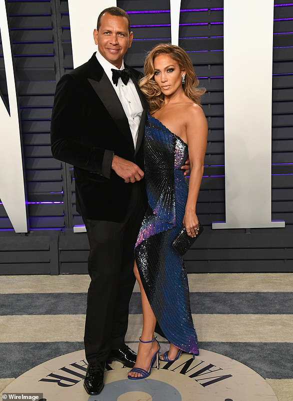 Finding love: Jennifer Lopez's romantic life has been a road filled with rocky passages and sharp turns after it was claimed on Friday that she had 'split'  from fiancé Alex Rodriguez (pictured in 2019)