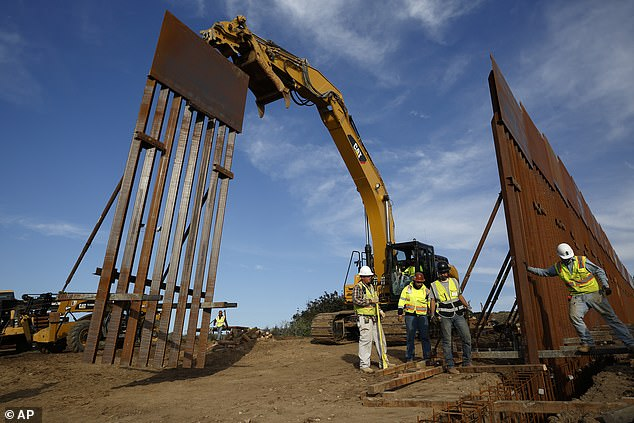 FINISH THE WALL:One of his top priorities is border security. The White House claims that the 'crisis at our southern border has strained Federal resources and overwhelmed agencies charged with border security and immigration enforcement