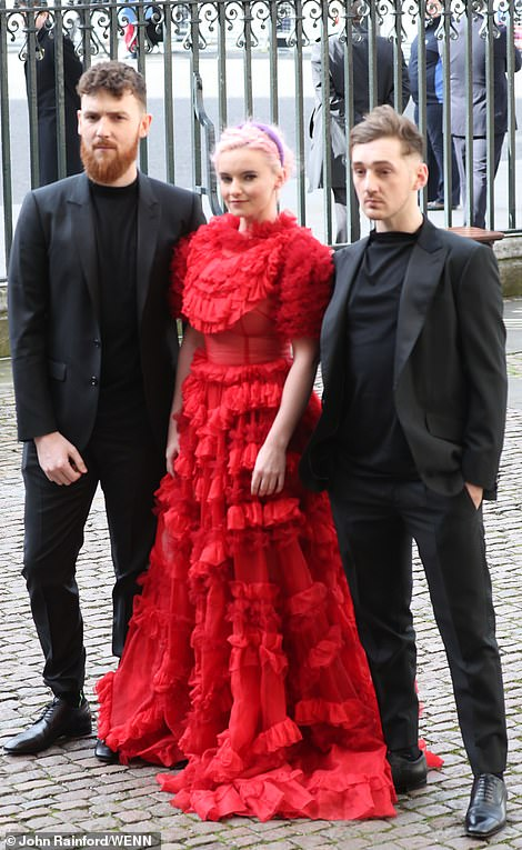 Grace Chatto was joined by band members Jack Patterson, Luke Patterson (above)