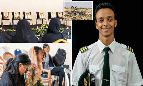 Image result for Funeral prayer held for killed young Ethiopian Airlines pilot