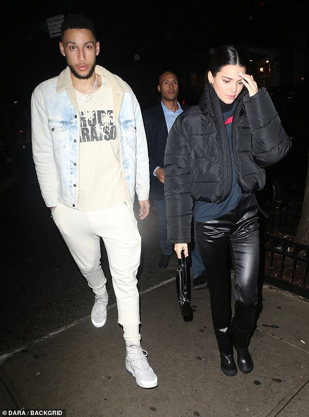 High profile romance: Kendall and Philadelphia 76ers player Ben were first linked romantically last summer. They're pictured in early February in New York
