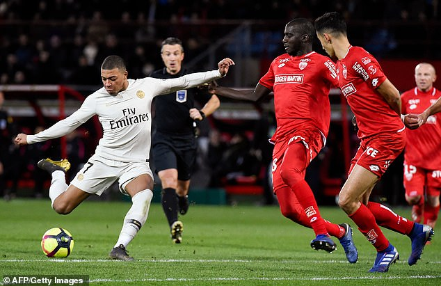 Mbappe, 20, was making his 48th Ligue 1 appearance for PSG, who were thoroughly dominant