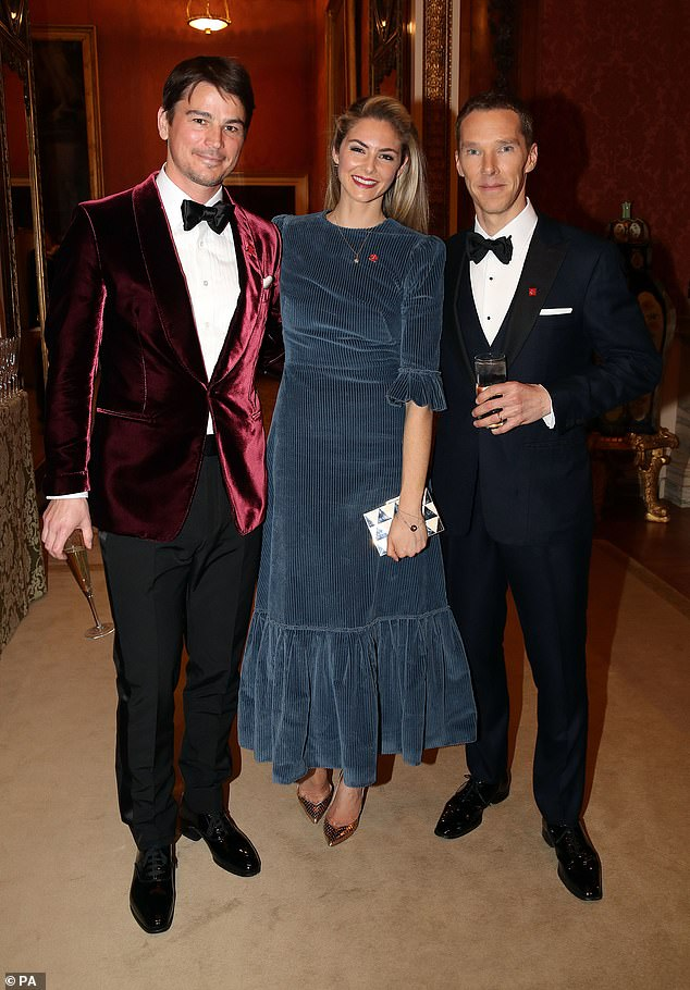 A-list event: Josh and Tamsin, who live in London with their two children, mingled with Benedict at the starry event