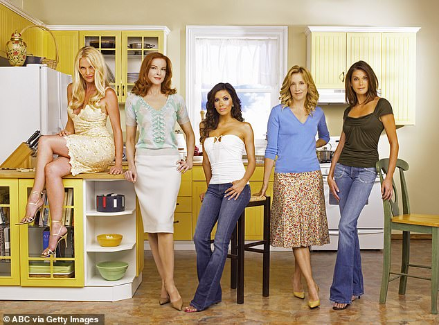 Her big series: Hoffman, second from right, is best known for TV's Desperate Housewives. Seen with Nicollette Sheridan, Marcia Cross, Eva Longoria and Teri Hatcher in 2005
