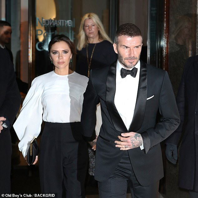 Hand-in-hand: The duo put on a united front as they left the glittering gala event