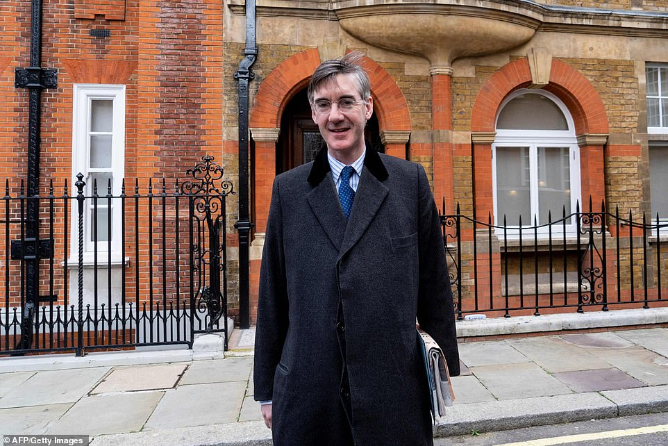 Brexiteer ringleader Jacob Rees-Mogg has also backed the so-called Malthouse amendment ahead of tonight's no deal votes