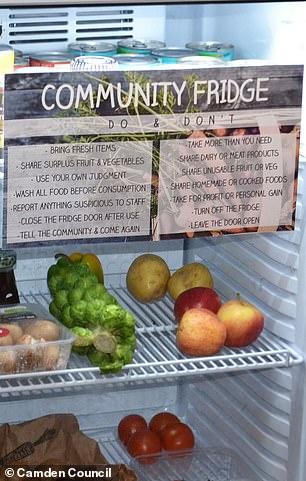 The community fridge