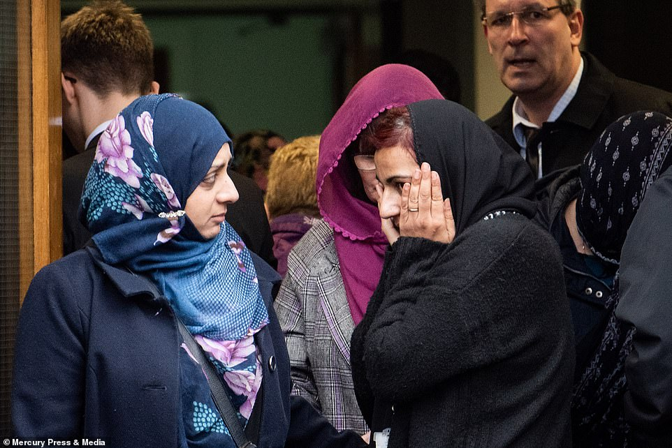 The ceremony today was attended by dozens of Yousef's family and friends. A two-minute silence was held on Monday by pupils and staff at his school