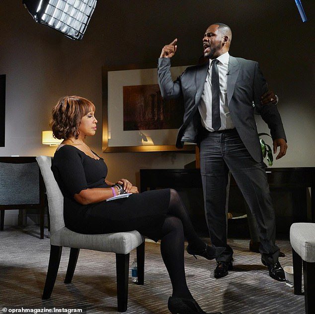 Kelly has been charged with 10 counts of criminal sexual abuse and has pleaded not guilty to all charges. Pictured about becoming hysterical about the charges against him in an explosive interview with Gayle King
