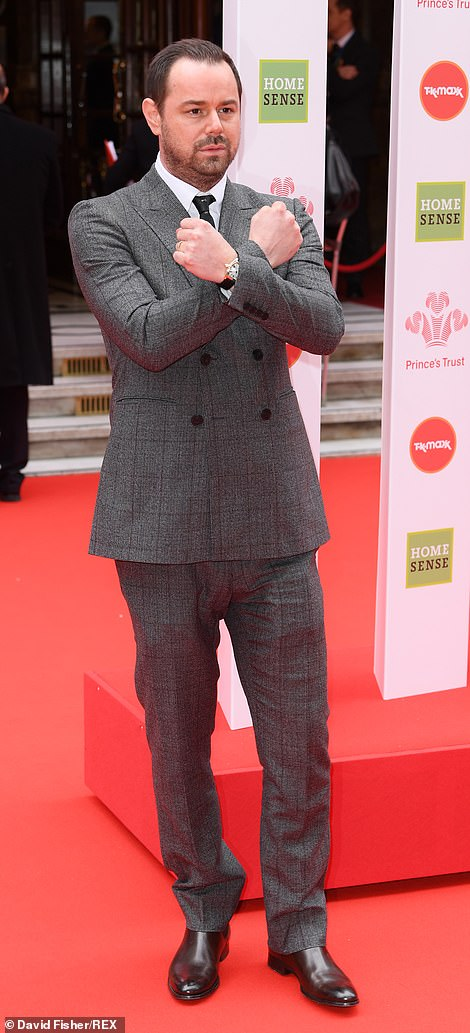 X Factor: Danny Dyer donned a slate grey suit for the prestigious awards