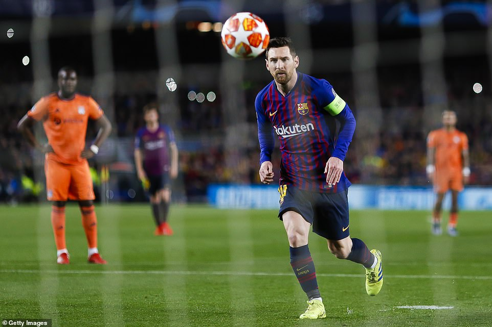 Messi displayed supreme confidence as he used the Panenka technique to chip his penalty kick into the centre of the goal