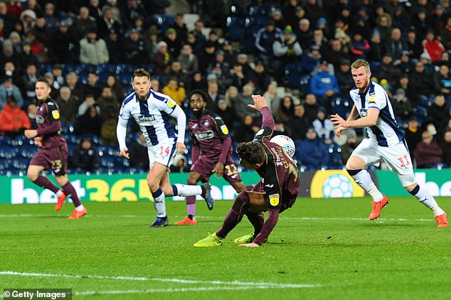 The miss proved costly as Swansea went on to lose the Championship clash 3-0